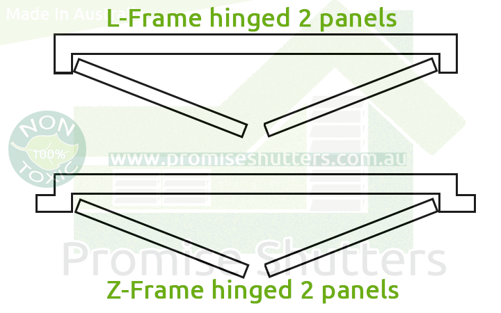 Frame hinged 2 panels