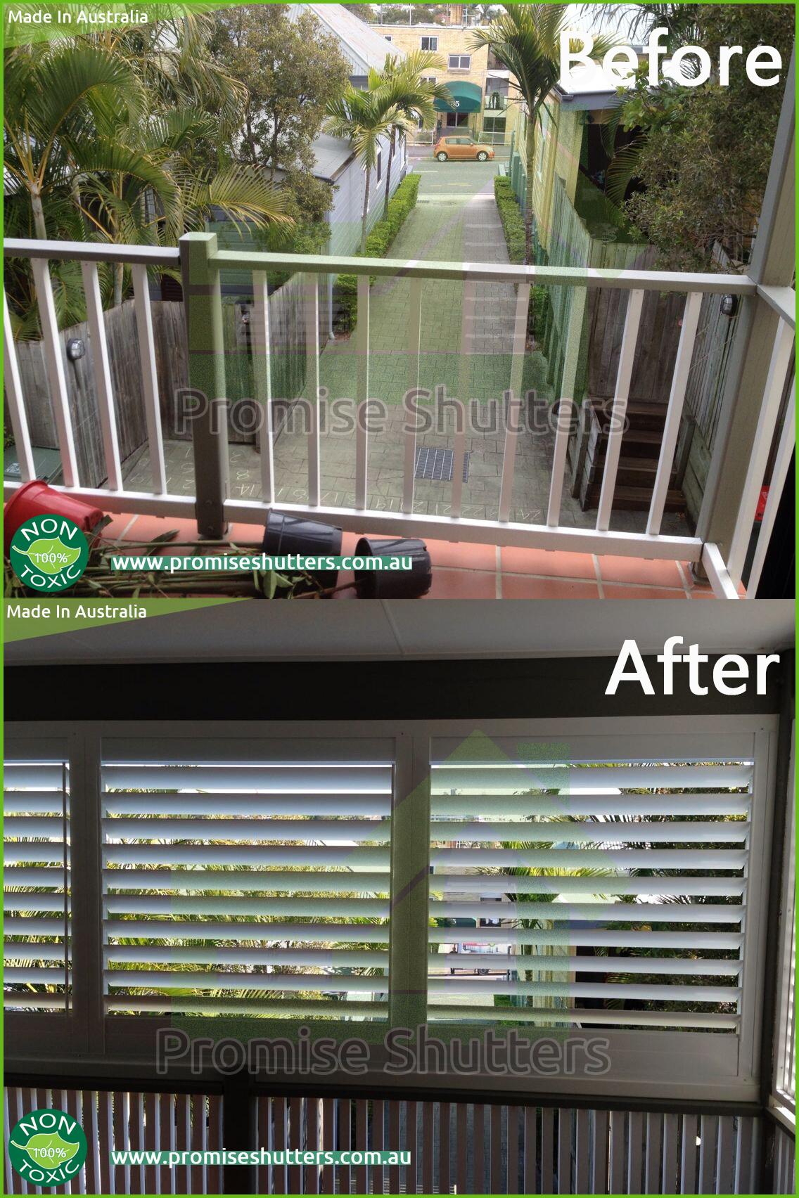 Aluminium fixed shutters