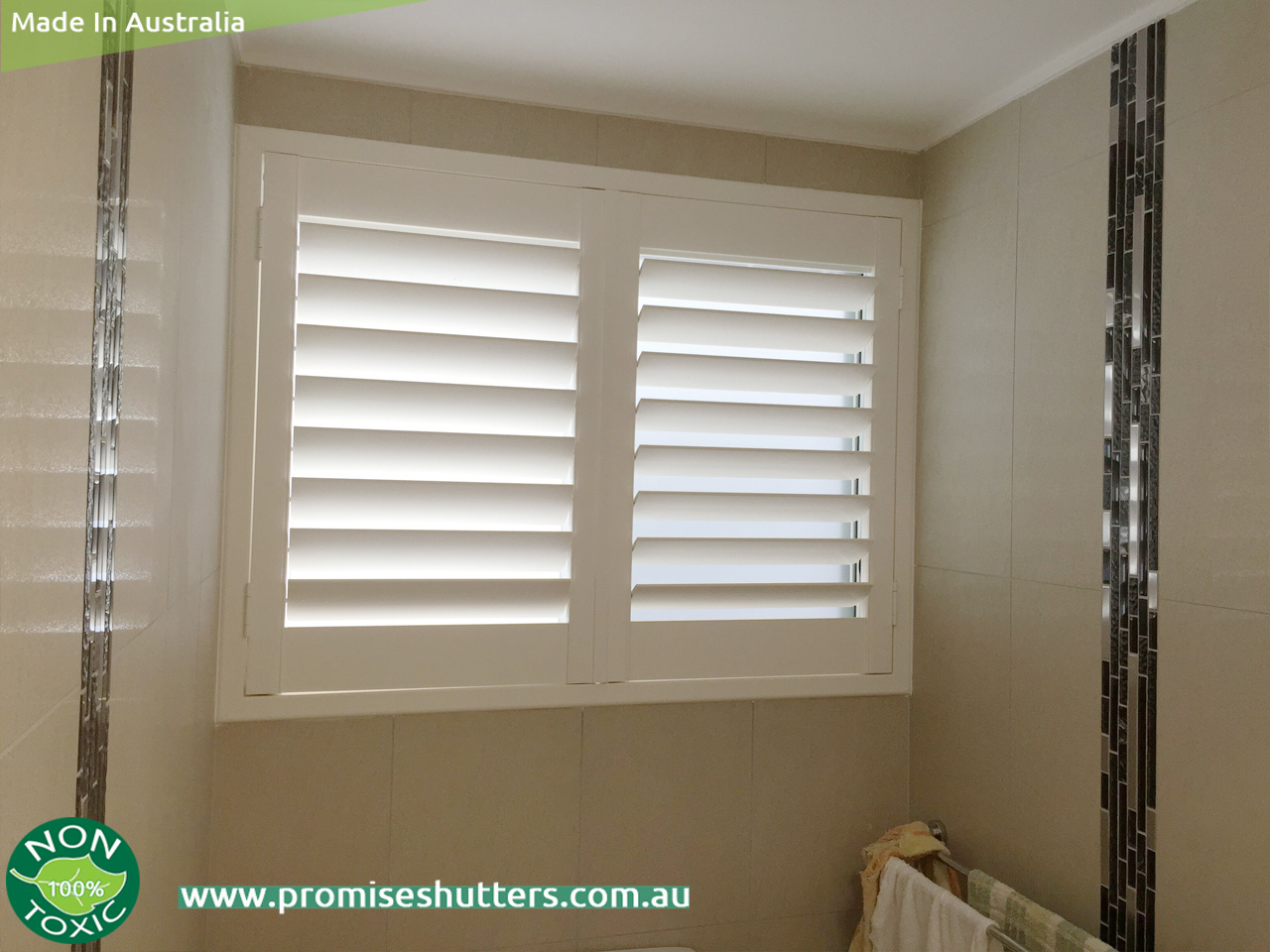 Well known window shutters installed with Z frame and L frame  BL08